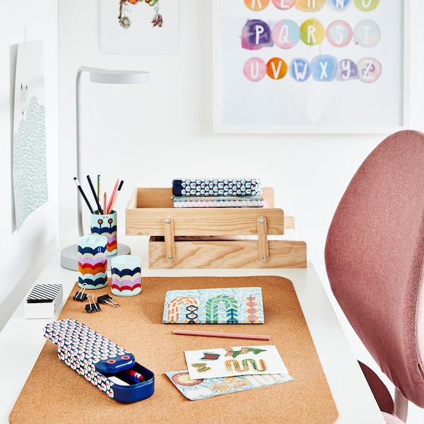 SUSIG Protecţie birou, plută, 45x65 cm