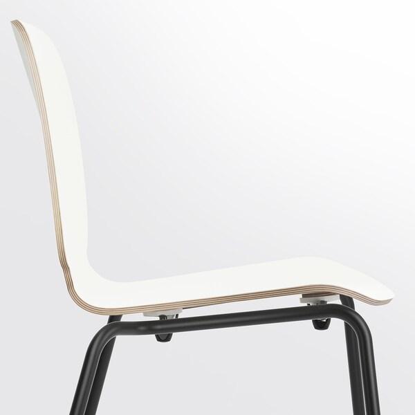 SVENBERTIL Scaun, alb/Broringe negru