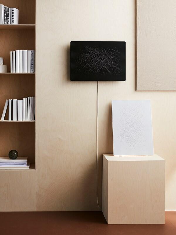 SYMFONISK Ramă tablou cu boxă WiFi, negru
