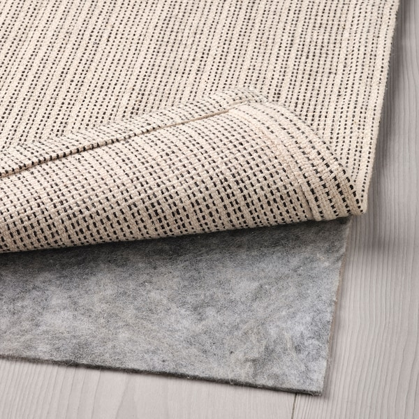 TIPHEDE Covor, ţesătură plată, natur/alb, 120x180 cm