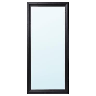 TOFTBYN Oglindă, negru, 75x165 cm