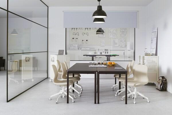 TOMMARYD Masă, antracit, 130x70 cm