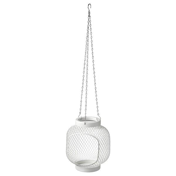 TOPPIG Felinar lumânare bloc, alb, 22 cm