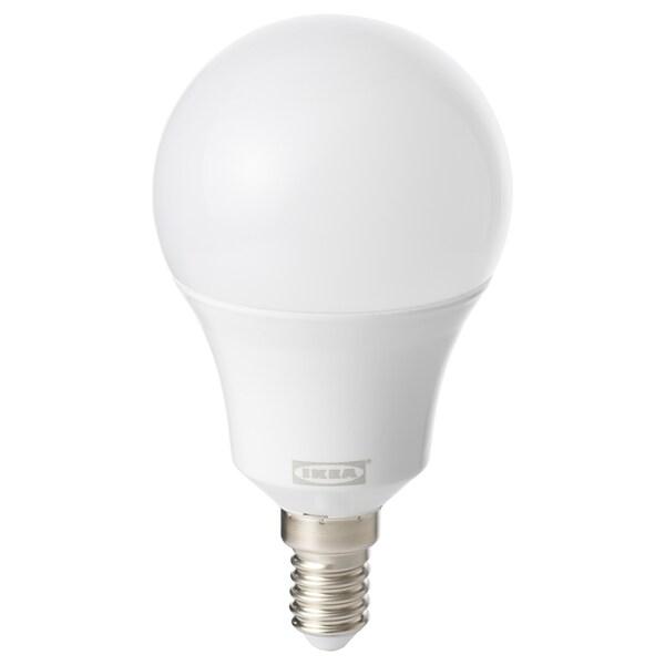TRÅDFRI Bec LED E14 600 lumeni, intensitate reglabilă wireless nuanţe alb/glob opal