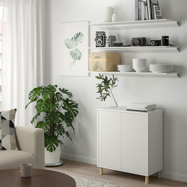 TROXHULT Etajeră, alb, 110x32 cm