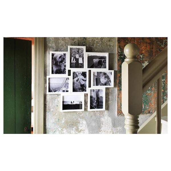 VÄXBO Ramă pentru 8 fotografii, alb, 13x18 cm