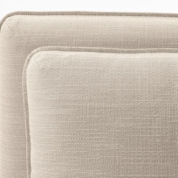 VALLENTUNA Colţar modular 3loc+canapea extens, cu depozitare/Hillared bej