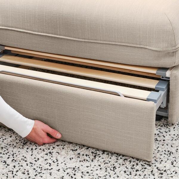 VALLENTUNA Modul canapea extensibilă cu spătar, Hillared bej