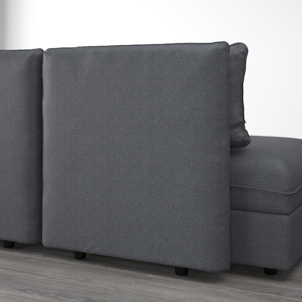 VALLENTUNA Modul canapea extensibilă cu spătar, Hillared gri închis