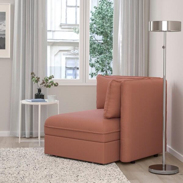 VALLENTUNA Modul canapea extensibilă cu spătar, Kelinge ruginiu