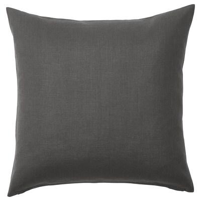 VIGDIS Faţă pernă, negru-gri, 50x50 cm