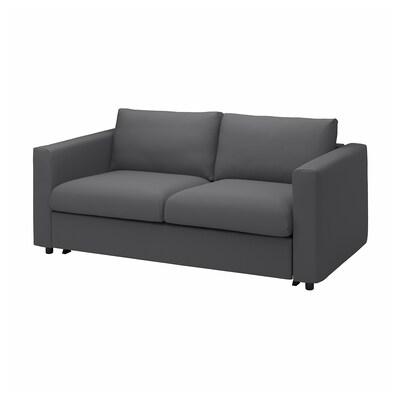 VIMLE Canapea 2 locuri+pat, Hallarp gri