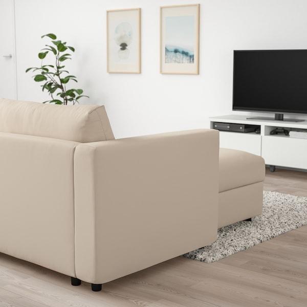VIMLE Canapea 4 locuri cu şezlong, Hallarp bej