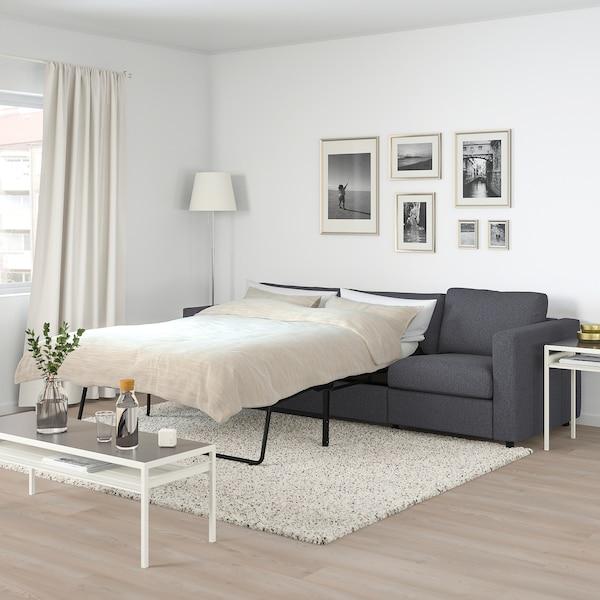 VIMLE Canapea extensibilă 3 locuri, Gunnared gri mediu