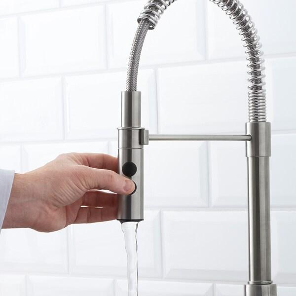 VIMMERN Baterie bucătărie/duş manual, aspect inox