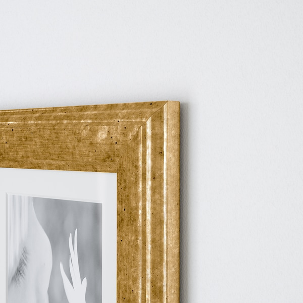 VIRSERUM Ramă, auriu, 10x15 cm