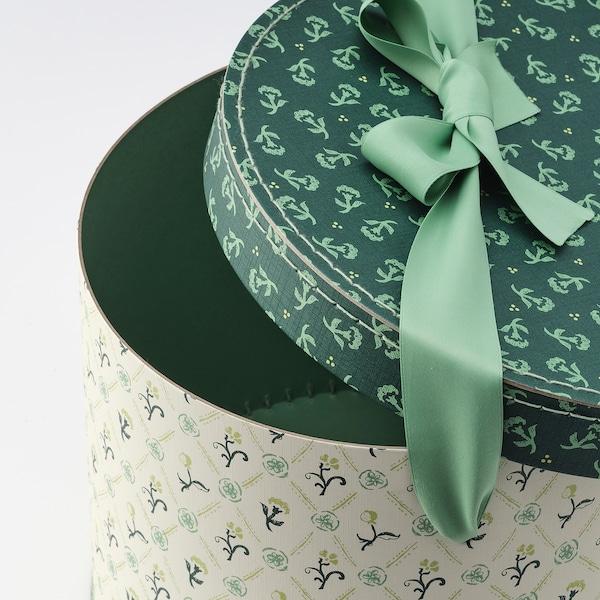 ANILINARE set kutija, 2 kom. okruglo/zelena cvetni dezen