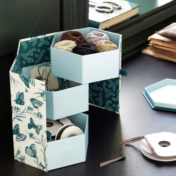ANILINARE ukrasna kutija zelena/leptir papir 16 cm 14 cm