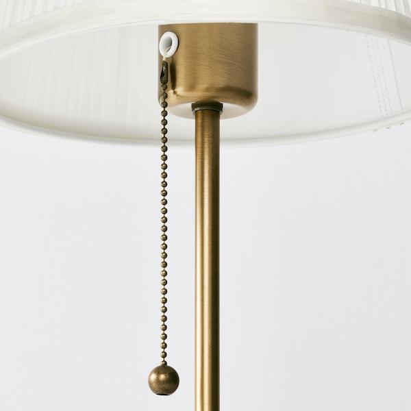 ÅRSTID stona lampa mesing/bela 75 W 55 cm 15 cm 22 cm 203 cm