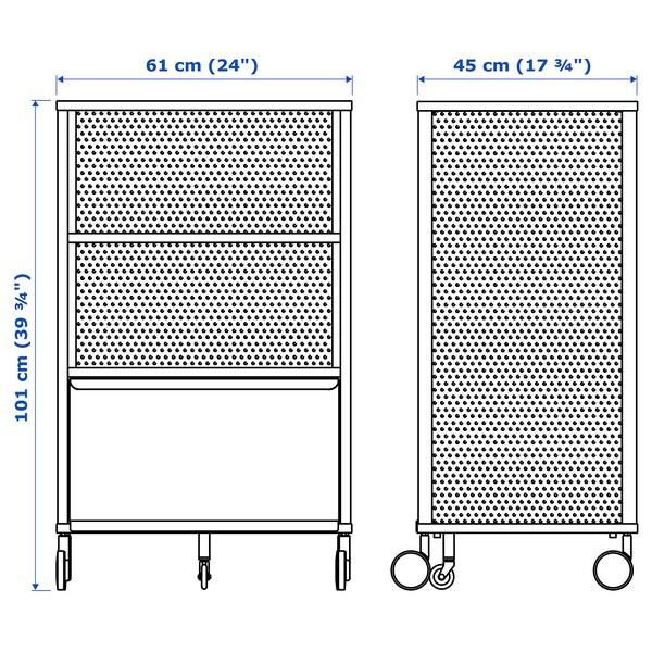 BEKANT Odlaganje s pametnom bravom, mreža crna, 61x101 cm