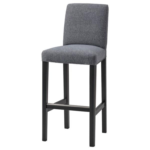 BERGMUND Navlaka barske stolice s naslonom, Gunnared zagasitosiva