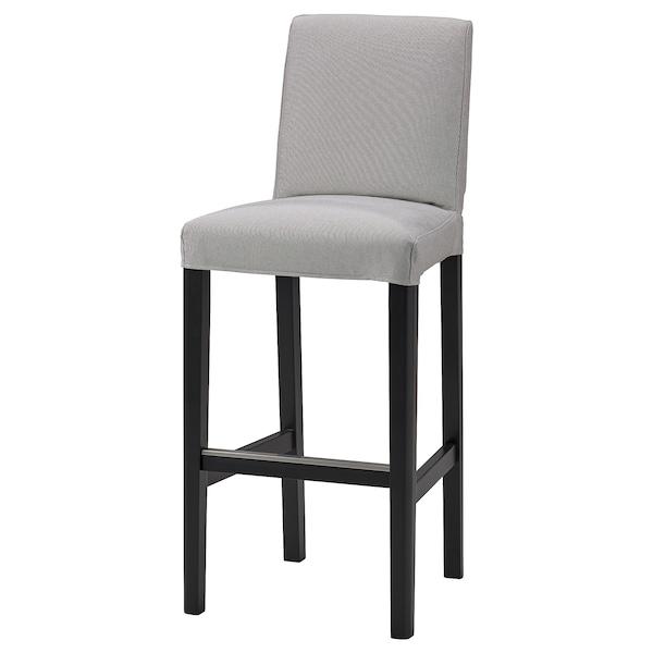 BERGMUND Navlaka barske stolice s naslonom, Orrsta svetlosiva