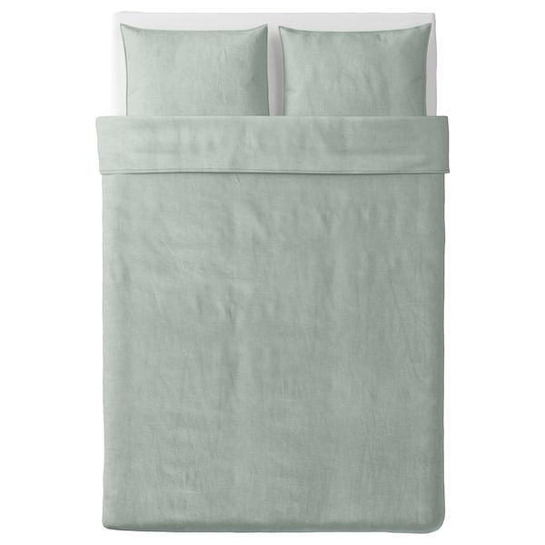 BERGPALM Jorganska navlaka i 2 jastučnice, zelena/pruga, 200x200/50x60 cm