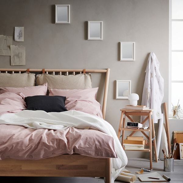 BERGPALM Jorganska navlaka i jastučnica, roze/pruga, 150x200/50x60 cm