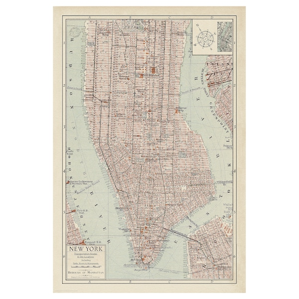 BILD Poster, mapa Menhetna II, 61x91 cm