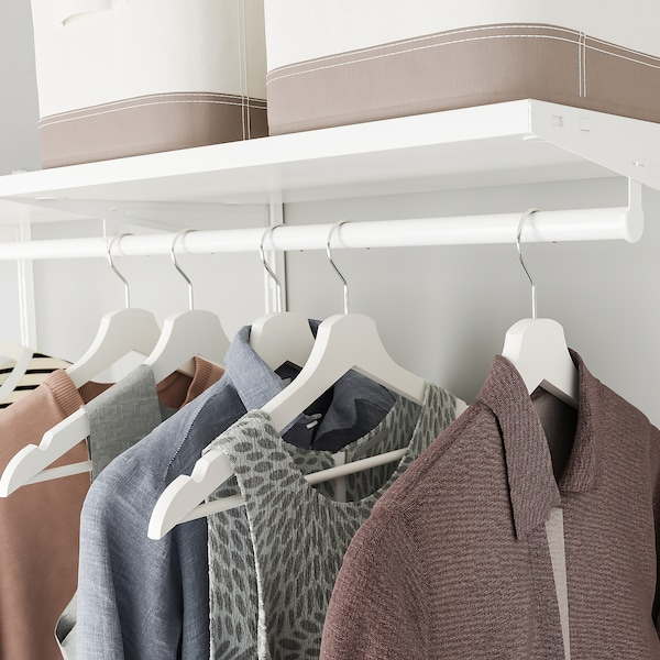 BOAXEL Kombinacija garderobera, bela, 250x40x201 cm