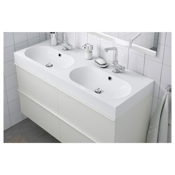 BRÅVIKEN dvostruki umivaonik bela 120 cm 120 cm 48.0 cm 10 cm