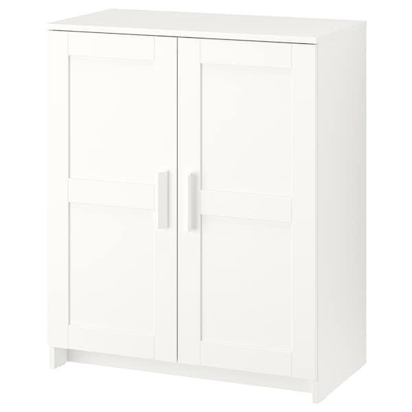 BRIMNES Ormarić s vratima, bela, 78x95 cm