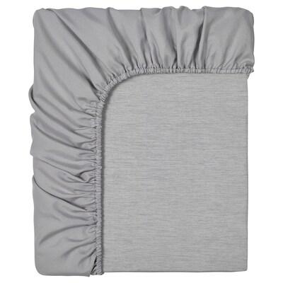 BRUDBORSTE Ukrojeni čaršav, siva, 180x200 cm