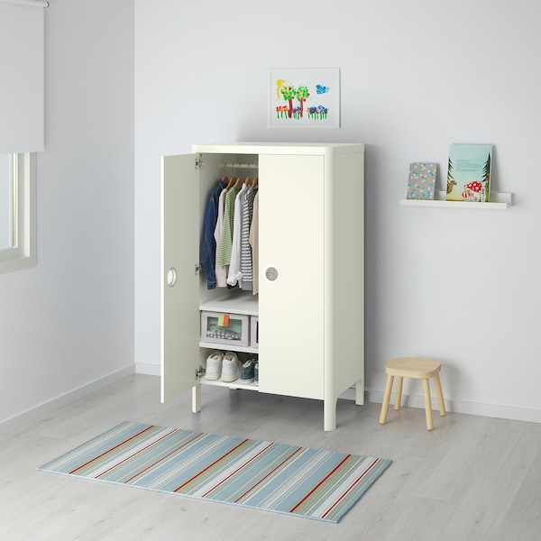 BUSUNGE Garderober, bela, 80x139 cm
