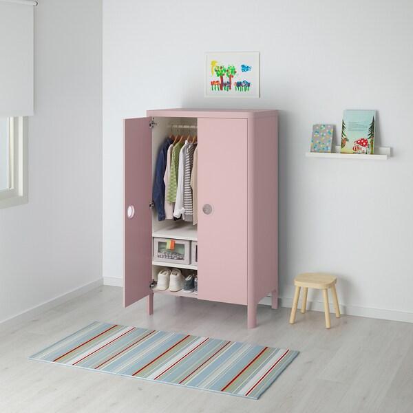 BUSUNGE garderober svetloroze 80 cm 52 cm 139 cm