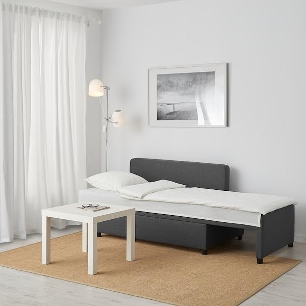 BYGGET Lenjivac/sofa ležaj, Knisa/tamnosiva s odlaganjem