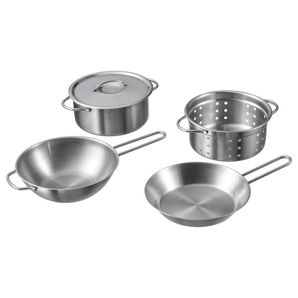 DUKTIG Set za kuvanje, igračka, 5 del., boja nerđajućeg čelika