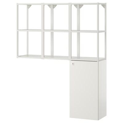 ENHET Kombinacija za odlaganje za veš, bela, 120x30x150 cm