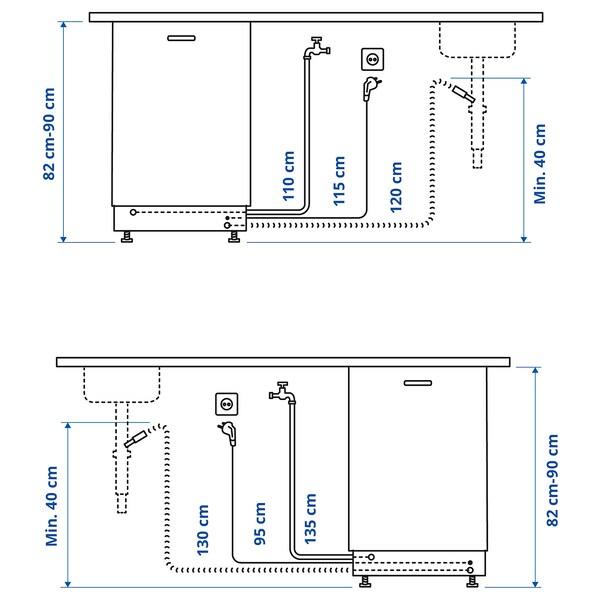 FINPUTSAD Ugradna mašina za suđe, IKEA 700, 45 cm