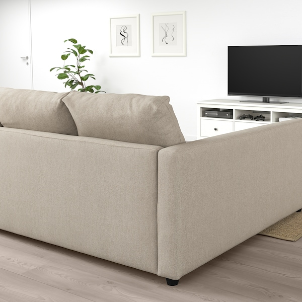 FRIHETEN Ugaona sofa ležaj s odlaganjem, Hyllie bež