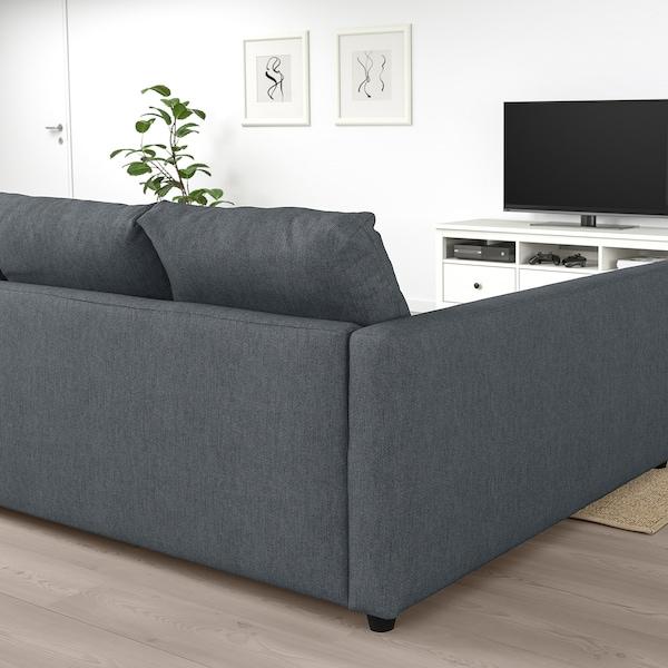 FRIHETEN Ugaona sofa ležaj s odlaganjem, Hyllie tamnosiva