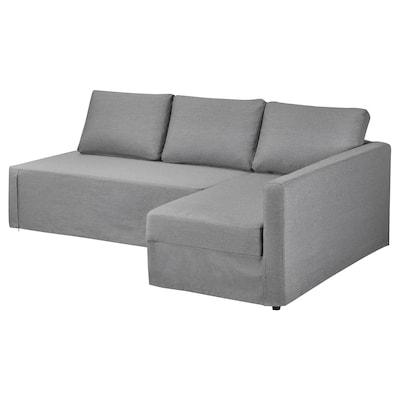 FRIHETEN Zašt. navlaka za ugaonu sofu, desno, Vissle siva