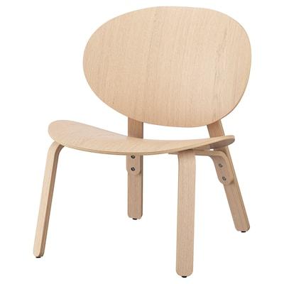 FRÖSET Fotelja bez rukohvata, belo b. hrastov furnir