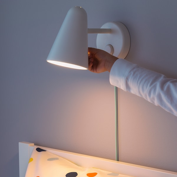 FUBBLA LED zidna lampa, bela