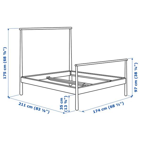 GJÖRA Okvir kreveta, breza/Leirsund, 160x200 cm