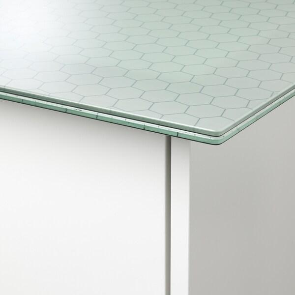 GLASHOLM / ALEX Sto, staklo/šara u obliku saća bela, 148x73 cm
