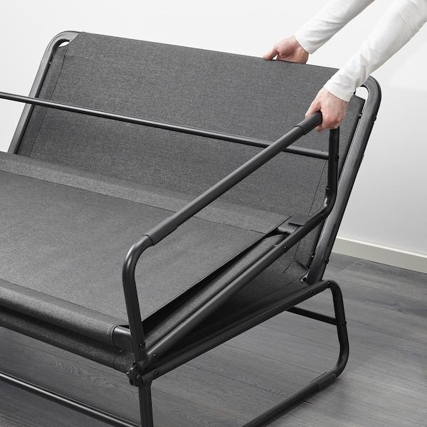 HAMMARN Sofa ležaj, Knisa tamnosiva/crna, 120 cm