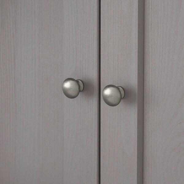 HAVSTA TV komb.odlaganje/staklena vrata, siva, 322x47x212 cm