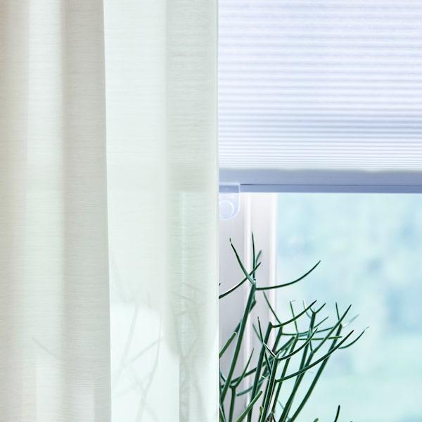 HOPPVALS Ćelijasta roletna, bela, 140x155 cm