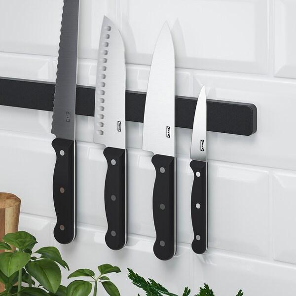 HULTARP Magnetna šina za noževe, crna, 38 cm
